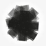 Trimming of the film vector background. Trimming of the film background vector illustration Royalty Free Stock Image