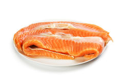 The trimmings salmon salt Stock Image