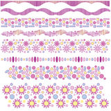 Trims with flowers Stock Images