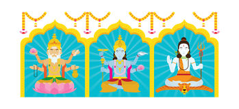 Trimurti, Brahma, Vishnu, Shiva Stock Photography