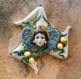 Trinakria-symbol av Sicilien Royaltyfri Bild