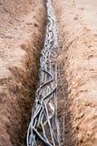 trincea dei cavi Fotografia Stock