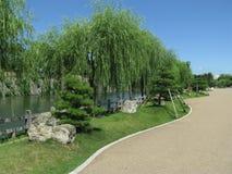 Trincea dell'acqua del castello di Himeji fotografia stock