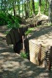 Trincheiras no museu de madeira do santuário no monte 62 Fotografia de Stock