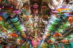 Pathirakali Amman Temple, Trincomalee. TRINCOMALEE, SRI LANKA - FEBRUARY 15, 2017: Pathirakali Amman Temple or Pathrakali Ambal Kovil interior. It's a Hindu Stock Images