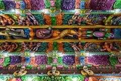 Pathirakali Amman Temple, Trincomalee. TRINCOMALEE, SRI LANKA - FEBRUARY 15, 2017: Pathirakali Amman Temple or Pathrakali Ambal Kovil interior. It's a Hindu Stock Photos