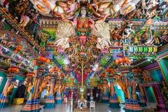 Pathirakali Amman Temple, Trincomalee. TRINCOMALEE, SRI LANKA - FEBRUARY 15, 2017: Pathirakali Amman Temple or Pathrakali Ambal Kovil interior. It's a Hindu Royalty Free Stock Images