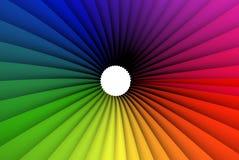 trind färgrik ram Arkivbilder