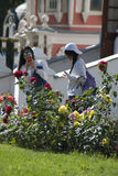Trindade asiática Sergius Lavra da visita dos turistas em Rússia Imagem de Stock Royalty Free