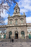 Trindade Church. 19th century Neoclassical architecture Royalty Free Stock Photos
