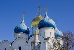 Trindade Sergius Lavra em Sergiev Posad, Rússia imagens de stock royalty free
