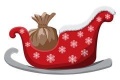Trineo de la Navidad aislado en el fondo blanco Imagen de archivo libre de regalías