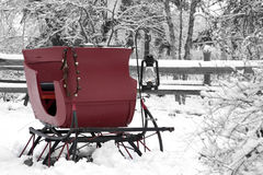 Trineo de la nieve de la vendimia Fotos de archivo