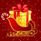 Trineo de Papá Noel stock de ilustración