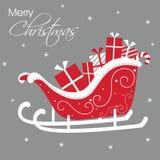 Trineo de Papá Noel Imagen de archivo libre de regalías