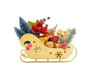 Trineo de Papá Noel con los regalos Fotos de archivo