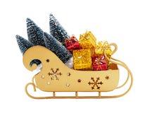 Trineo de Papá Noel con los regalos Imagen de archivo