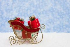 Trineo de Santa fotos de archivo libres de regalías