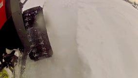 Trineo del motor en la nieve metrajes