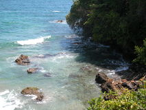 Trini Paradise. Secluded beach on the Nor5th Coast of Trinidad and Tobago, W.I stock photo