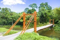 Trinidad. Suspension bridge in Blanchisseuse,Trinidad Royalty Free Stock Photo
