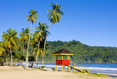 Trinidad. Cabin on the beach, Maracas Bay, Trinidad Royalty Free Stock Photo
