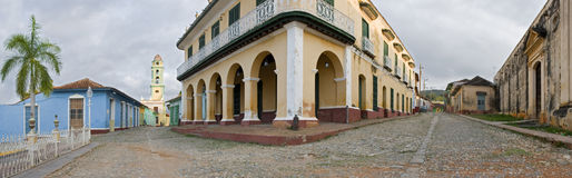 Trinidad. Wide panoramic shoot  of colonial town trinidad - cuba Royalty Free Stock Photography
