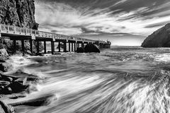 Trinidad California Pier and Pacific Ocean Royalty Free Stock Images