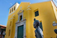Trinidad Church et la statue Pedro Romero, Carthagène photo stock