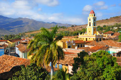 Trinidad city with San Francisco Church Royalty Free Stock Image