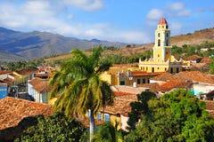 Trinidad City With San Francisco Church Royalty Free Stock Image