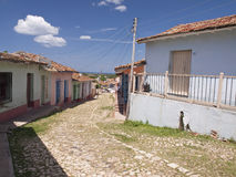 Trinidad Cuba. Typical cobbled street in the center of Trinidad, in the province of Sancti Spiritus on the island of Cuba Stock Images