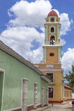 Trinidad, Cuba. Belltower and typical colonial buildings in the center of Trinidad, Cuba Royalty Free Stock Photography