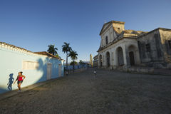 Trinidad Cuba Colonial Architecture Plaza Mayor Stock Photography