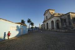 Trinidad Cuba Colonial Architecture Plaza Mayor Stock Photography