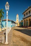 Trinidad, Cuba - December 6, 2017: National Museum of the Struggle Against Bandits. And Plaza Mayor stock photos