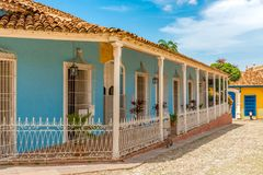 Trinidad Cuba: facade of the museum of architecture Royalty Free Stock Images