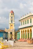 Urban scene in Colonial town cityscape of Trinidad, Cuba. stock photography