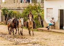 A typical view in Trinidad in Cuba royalty free stock photography