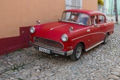 Trinidad, Cuba - 7 Juli 2018: Oude tijdopnemerauto op straten van Trinida Royalty-vrije Stock Foto