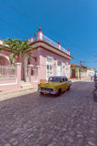 TRINIDAD, CUBA - MARCH 30, 2012: Vintage Chevrolet yellow car Stock Image