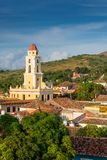 Trinidad, Cuba. National Museum of the Struggle Against Bandits. Tower stock photo