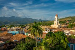 Trinidad, Cuba. National Museum of the Struggle Against Bandits. Landscape royalty free stock photo