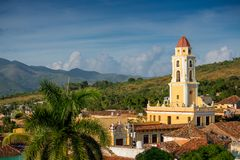 Trinidad, Cuba. National Museum of the Struggle Against Bandits. Unesco town royalty free stock image