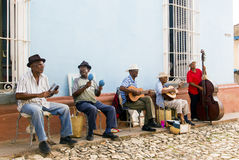 TRINIDAD, CUBA - November 5, 2015: Group of musician play on the Royalty Free Stock Photos