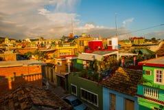 Trinidad cuba Odgórny widok Kubański miasto Panorama turystyczny i popularny miasto w Kuba zdjęcia stock
