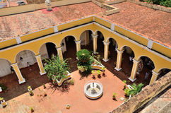Trinidad Cuba  - patio of a house Royalty Free Stock Photography