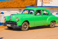 TRINIDAD, CUBA - SEPTEMBER 8, 2015: Old American car. TRINIDAD, CUBA - SEPTEMBER 8, 2015: Classic Old American cars used for transportation and tourism services Royalty Free Stock Photography