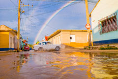 TRINIDAD, CUBA - SEPTEMBER 8, 2015: Overstroomd stock fotografie