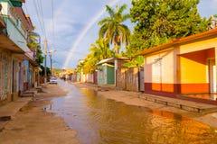 TRINIDAD, CUBA - SEPTEMBER 8, 2015: Overstroomd stock afbeelding